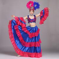 ingrosso usura da ballo di carnevale-Belly Dance Outfit Donna Sexy Samba Rio Carnival Costume Halloween dress festival Stage wear Performance Abbigliamento danza del ventre