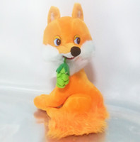 Wholesale Battery Operated Dolls - Russian language singing song plush fox soft doll,electronic toys for children,Intellectual russian toy birthday Christmas gift