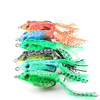 Wholesale floating frog lures online - New Topwater Popper Artificial Rubber Frog Lure cm g Floating Swimming Lifelike Frog Snakehead Blackfish Soft Bait