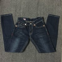 Wholesale Tr Jeans - Wholesale Brand us jean Men's True Jeans ROBIN High Quality Trousers Denim Designer Dark Solid color Straight tr Jean Man Pants