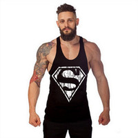 Wholesale Code Sweaters - Europe and America big code vest fitness sports Superman summer sweater men's vest.