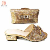 80033ef594466 Couleur italienne chaussures avec sac assorti pour femme femme chaussures  italiennes et sacs mis haute qualité robe de mariée africaine à talon bas