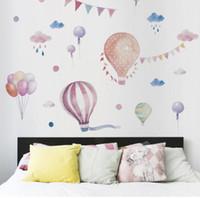 ingrosso palloncino a colori per i bambini-Nuovo colore mongolfiera adesivi murali ragazza stile adesivi decorativi adesivi per bambini camera TV parete decorazione