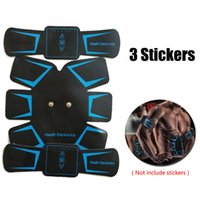 Wholesale muscle fitness arms - Best Deal EMS Muscle Trainer Stickers Abdominal Fitness Stimulator Belt Fitness Toner Building Arm Muscle Massager Device