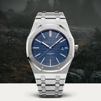 Wholesale green blue sapphire - AAA Luxury Watch For Men Women Fashion Stainless Steel Strap Automatic Couple Watches Men Swiss Brand Wristwatch Sapphire 15400 Chronograph
