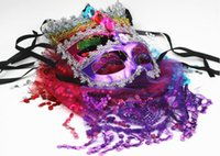 Wholesale half veil wedding - Children's mask, new European and American aesthetical mask, Venice Princess veil sexy party ball mask L155