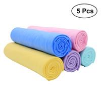 geyikli havlu toptan satış-5 ADET Büyülü Fonksiyonel PVC Sentetik Geyik Derisi Kumaş Havlu Makinesi Temizleme Araba Yıkama için Sentetik Havlu Deerskin Havlu