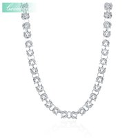 Wholesale 925 silve - whole saleLink Chains Necklace,Hyperbole 925 Sterling Silver & Zirconia For Women,The Male Leading TO Necklace 18 Inch Simple Round Silve