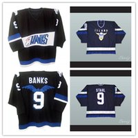 Wholesale Hawk Jerseys - S-5XL Mighty Ducks Movie Jersey Hawks 9 Adam Banks 9 Iceland Gunnar Stahl Stitched Embroidery Logos Throwback Any Name Number Hockey Jerseys