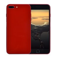 Wholesale body french - Red Cheap 5.5 inch Goophone i8 Plus Clone 3G WCDMA Quad Core MTK6580 512MB 4GB+32GB Android 7.0 GPS WiFi 5.0MP Camera Metal Body Smart Phone