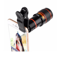 Wholesale Mobile Phones Telescope Camera 12x - Universal Clip 12X Zoom Mobile Phone Telescope Lens Telephoto External Smartphone Camera Lens for Sumsung Huawei