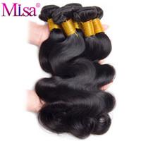 купить переплетение бразильского человеческого волоса оптовых-Brazilian Body Wave Bundle Can Buy 4 or 3 Bundles 10-28 inch 1 Pc Non Remy Hair Extensions Mi Lisa Hair Weave Human Bundles