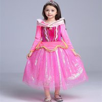 Wholesale cute party dresses for sale - 2018 Girl Fashion Halloween Party Cosplay Dresses Cute Long Sleeves Christmas Dresses For Girl Princess Dresses