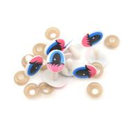 descobertas de jóias de plástico venda por atacado-5 par contas de bonecas de plástico olhos olhos de segurança dos desenhos animados DIY Scrapbooking artesanato para descobertas jóias DIY Handmade Craft Making
