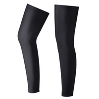 siyah likralı kumaş toptan satış-Gambali ciclismo Bisiklet bacak ısıtıcıları, Anti-Uv Bisiklet bacak kol Lycra kumaş 2 Renk Siyah Beyaz