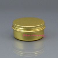 Wholesale Good Healing - Gold cans 50g 1.7oz Healing Balm Empty Metal Aluminum Cans Cream Container with Screw lids high quality good packaging aluminium candle jar