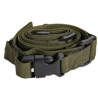 Wholesale bungee sling airsoft online - Tactical Point Nylon Adjustable Bungee Rifle Sling Swivels System Airsoft Gun Strap Paintball Gun Sling for Hunting Army Green