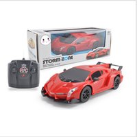 Wholesale Model Control - Four-way electric Ferrari Lamborghini remote control car with headlights toy car wholesale gifts giveaway puzzle children's car model