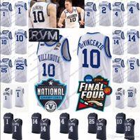 3c3693c1909 NCAA Villanova Wildcats  1 Lowry 14 Spellman 24 Joe Cremo 42 Dylan Painter  white navy blue Kyle Omari Final Four College Basketball Jersey