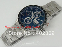 calibre 16 relógio automático venda por atacado-AAAA Luxo Mens Chronograph Data Calibre Árabe 16 Automático Eta 7750 Chrono Esporte Transparente de Fundo de Alta Qualidade Relógios