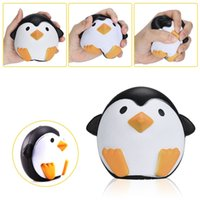 Wholesale Cell Phone Chain Lanyard - Squishy Penguin 11cm Slow Rising Toy Decompression Bread Relieve Stress Cake Sweet Animal Cell Phone Strap Phone Pendant Key Chain Toy Gift