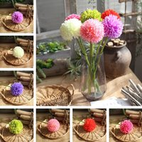 Wholesale onion flowers for sale - Group buy Decorative hydrangea Artificial Flowers green onion ball imitation flowers Weeding Home Decor Festival Party Supplies T2I252