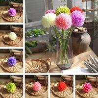 ingrosso fiore artificiale ortensia verde-Decorativo ortensia fiori artificiali palla di cipolla verde fiori d'imitazione erbaccia decorazione casa festa per feste T2I252