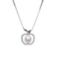 ingrosso ragazze sposate-I gioielli di design unico Clavicle Sterling Small Apple Shell collana di perle per le donne ragazze gioielli ciondolo collana Incontro sposa sposata
