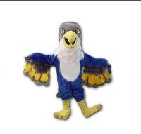 Wholesale Eagles Mascot Costume - 2018 New Custom made Blue Falcon Mascot Costume Cartoon Character Eagle Bird Mascotte Mascota Outfit Suit Fancy Dress Suit