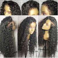 Wholesale Sale Lace Front - Top Sale High Quality Black Long Kinky Curly Wigs with Baby Hair Heat Resistant Glueless Synthetic Lace Front Wigs for Black Women