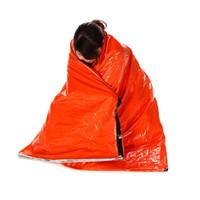sacs de couchage adultes en plein air achat en gros de-Y1759 portable sac de couchage d'urgence polyéthylène sac de couchage camping en plein air voyage randonnée sac de couchage