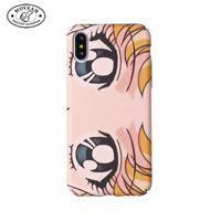 große augen telefonieren großhandel-Schöner junger Mädchen-großer Augen-Entwurfs-harter Handy-Fall-leuchtender Handy-Fall für iphone