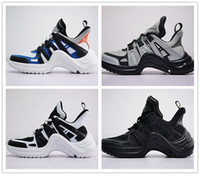 Wholesale Bow Types - Hot INS Paris 18SS Milan ARCHIIGHT Sci-Fi Fashion Luxury Designer Sneakers Mens Women Triple S Retro Bow type Casual Sports Shoes Size 36-44