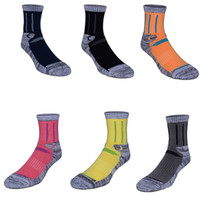Wholesale thick cotton crew socks - Unisex Wool Socks Thick Warm For Camping Ski Walking Hiking Outdoor Work Winter Thermal Crew Socks for Men and Women Free DHL G498S
