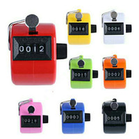 Wholesale plastic swings for sale - Group buy Four Bits Electronic Counter Colour Golf Mechanics Chanting Plastic Machinery Manual Counters No Battery Data Statistics df dd