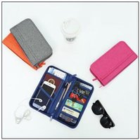Wholesale food card - Multifunction Fashion Travel Passport Holder Credit ID Card Holder Cash Wallet Organizer Storage Bag Purse Wallet CCA8963 50pcs