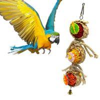 Wholesale cage cockatiel resale online - Parrot Toys Ball Pet Bird Bites Climb Chew Toys Hanging Cockatiel Parakeet Swing Parrot Cage Bird Toys