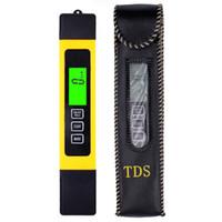 probador de pureza de agua al por mayor-100 unids por dhl fedex Digital Pen Filtro portátil Calidad Purity Tester Medidor de agua con luz de fondo TDS EC temp herramientas de medición