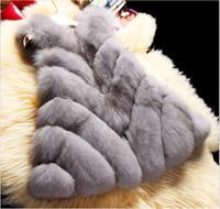 Wholesale Women S Pink Fur Coats - Autumn and winter Women's Faux Furs Outerwear Fox Fur Coat Women Vests
