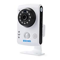 cámara guardián al por mayor-Escam Keeper QF502 Wifi Mini Cámara Doméstica IP 1.0MP HD 720P Onvif P2P Vigilancia Interior Night Vision CCTV de Seguridad