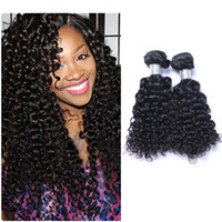 Wholesale Jerry Wave 14 Inch - Peruvain Virgin Human Jerry Curly Weave 8-30 inch 100grams piece Body Wavy Hair Natural Black 2pcs lot Hair Extensions