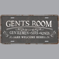 Wholesale room plaques - Gents Room Gentlemen Sirs Kings Retro License Plates Vintage Tin Sign Art Wall Plaque decor Home Metal Painting Bar Pub