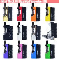 Wholesale box v1 - Authentic imini Thick Oil Cartridges Vaporizer Kits 520mAh Box Mod Battery 510 Thread Liberty V1 Tank Wax Atomizer vape pen Starter vapors