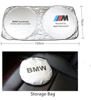 araba güneş gölge katlanabilir toptan satış-Evrensel Araba Cam Güneş Gölge Blokları UV Işınları Katlanabilir Güneşlik BMW Benz Audi Toyota Lexus Honda için Volvo Cadillac Yüksek Kalite
