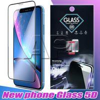 ingrosso colla per il corpo-Per iPhone XS MAX XR Full Glue Vetro temperato Edge to Edge Full Cover per Apple 8 7 6s Plus