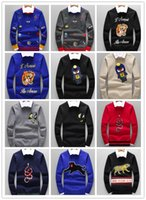 Wholesale best brand sweaters - Best Sell New Fashion men Sweater Designer Men Brand Pullover Long Sleeve Crew Neck Cashmere Blend Embroider