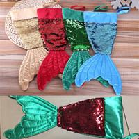 ingrosso sacchetti di paillettes-Decorazioni di Natale Mermaid Sequin Calza di Natale Confezioni regalo Confezioni Bling Bling Bead Flip Tail Calze Xmas Home Decor 16 pollici WX9-818