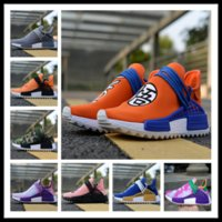 Wholesale massage balls - 2018 hot sales NMD Hu Trail Son Goku shoes Top Quality Dragon Ball Sports shoes casual shoes store size 36-45