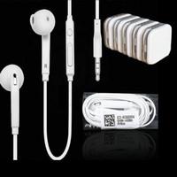 control de volumen del micrófono del iphone al por mayor-Auriculares audífonos para auriculares Earset Auriculares con micrófono de control de volumen para el iphone 5 6 Samsung s6 s7 s8 teléfono android