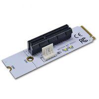 ssd pcie toptan satış-NGFF M2 PCI-e 4X 1X Yuvası Yükseltici Kart Gösterge Işığı ile M Anahtar SSD Portu PCIE Adaptörü için Madencilik XXM8